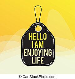 lege, life., schrijvende , foto, kleurrijke, ontspannen, hallo, achtergrond, vrolijke , rechthoek, spullen, het genieten van, hechten, zakelijk, conceptueel, eenvoudig, het tonen, genieten, string., showcasing, levensstijl, etiket, hand, label