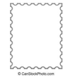 lege, postzegel