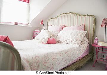 lege, slaapkamer