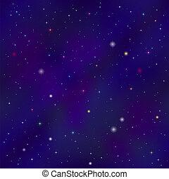 lege, sterretjes, ruimte