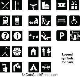 Legend symbols for park
