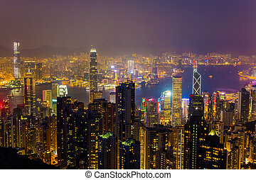 Legendary Hong Kong. The city is a state in the night...