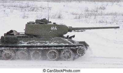 Legendary Russian Tank T34 - MOSCOW, RUSSIA - DECEMBER 25:...