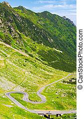 legendary Tranfagarasan road in Romanian mountains -...