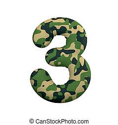 leger, cijfer, concept, leger, -, getal, oorlog, 3, camo, survivalism, of, 3d