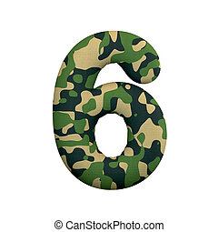 leger, cijfer, concept, leger, -, getal, oorlog, camo, 6, survivalism, of, 3d