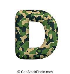 leger, concept, d, leger, -, oorlog, camo, brief, hoofdstad, lettertype, survivalism, of, 3d