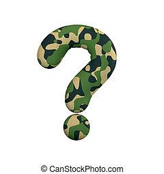 leger, concept, leger, symbool, punt, -, oorlog, ondervraging, camo, survivalism, of, 3d
