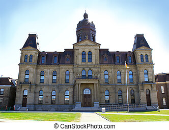 Legeslative Assembly Building in Fredericton NB - View of ...