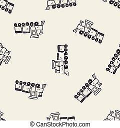legetøj tog, doodle