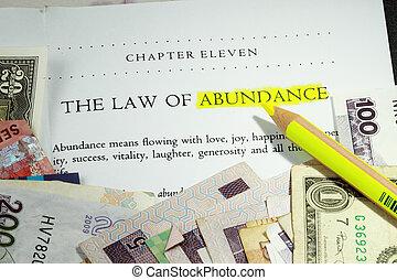 legge, di, abbondanza