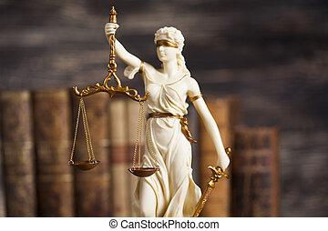 legge, prova, carico, tema, statua, giustizia