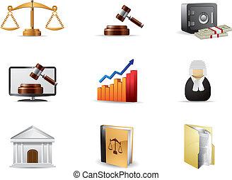 legge, set, icona