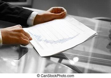 leggere, relazione, finanziario