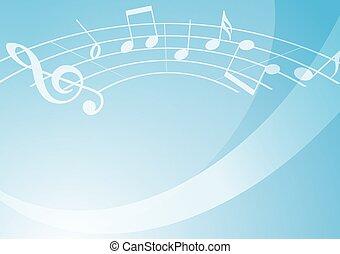 leggero blu, musica, fondo