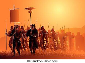 legionary, 草, 3月, 古代, フィールド, ローマ