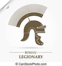 legionary, romano, casco