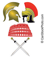 Legionnaires and Gladiator