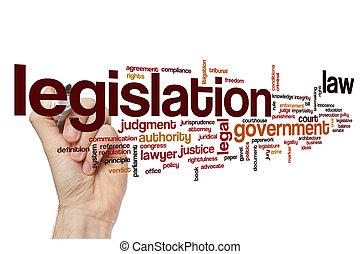 legislación, palabra, nube