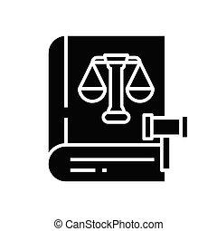 Legislation black icon, concept illustration, vector flat symbol, glyph sign.