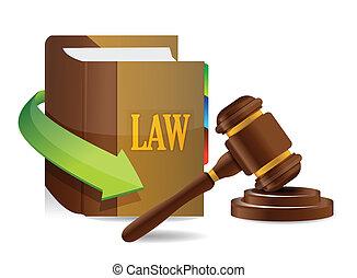 Legislation concept. Balance and book illustration design...