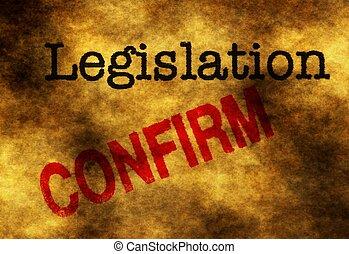 Legislation confirm