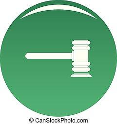 Legislation icon vector green - Legislation icon. Simple...