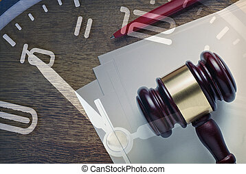 Legislative, auction or justice concept with gavel