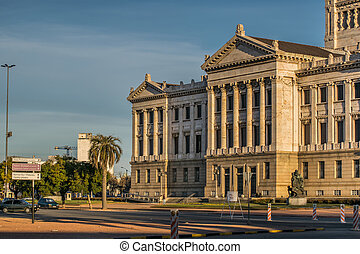 Neoclassical style landmark legislative palace of Uruguay, located in the capital Montevideo
