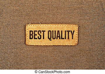 legjobb, minőség, megkorbácsol, címke, címke