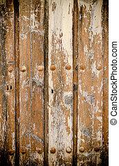 legno, alterato, porta, struttura, fondo