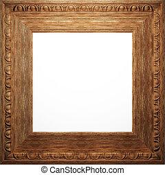 legno, anticaglia, cornice