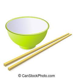 legno, bastoni., tazza, ceramica