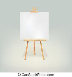 legno, bianco, carta, foglio, treppiede