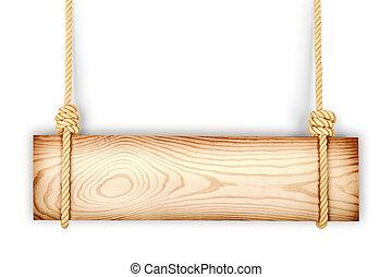 legno, bianco, isolato, fondo, segno