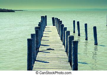 legno, bridgwe, acqua