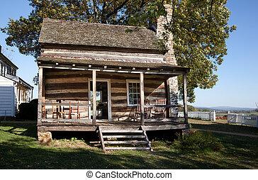 legno, cabina, in, hdr