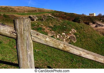 legno, campagna, recinto