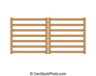 legno, cancello, recinto