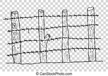 legno, cancello