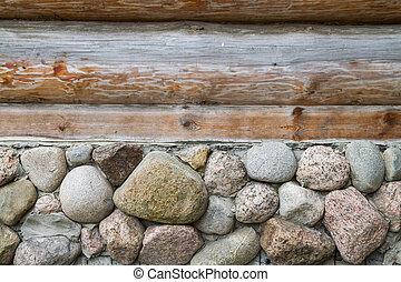 Pietra, legno, pareti, seminterrato. Pareti pietra, legno, lusso, seminterrato, casa.