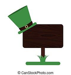 legno, cappello, elfo, segno