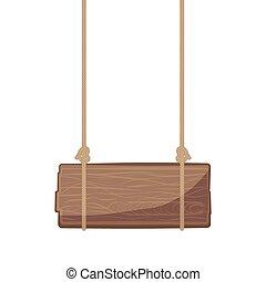 legno, cartello, appendere
