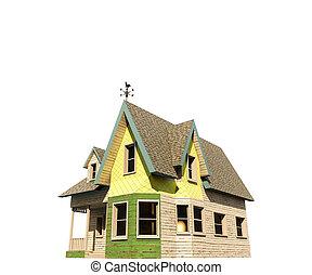 Casa stile vecchio vittoriano grigio stile vecchio for Piani casa colonica vittoriana