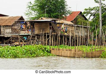 legno, case, trampoli