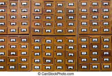 legno, catalogo, vecchio, scheda
