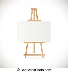 legno, cavalletto, illustrazione