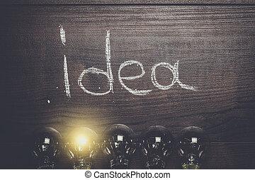 legno, concetto, idea, fondo
