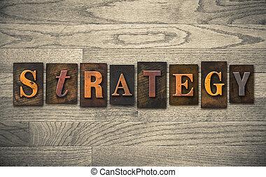 legno, concetto,  Letterpress, strategia