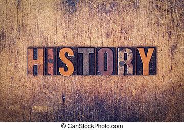 legno, concetto, tipo, letterpress, storia